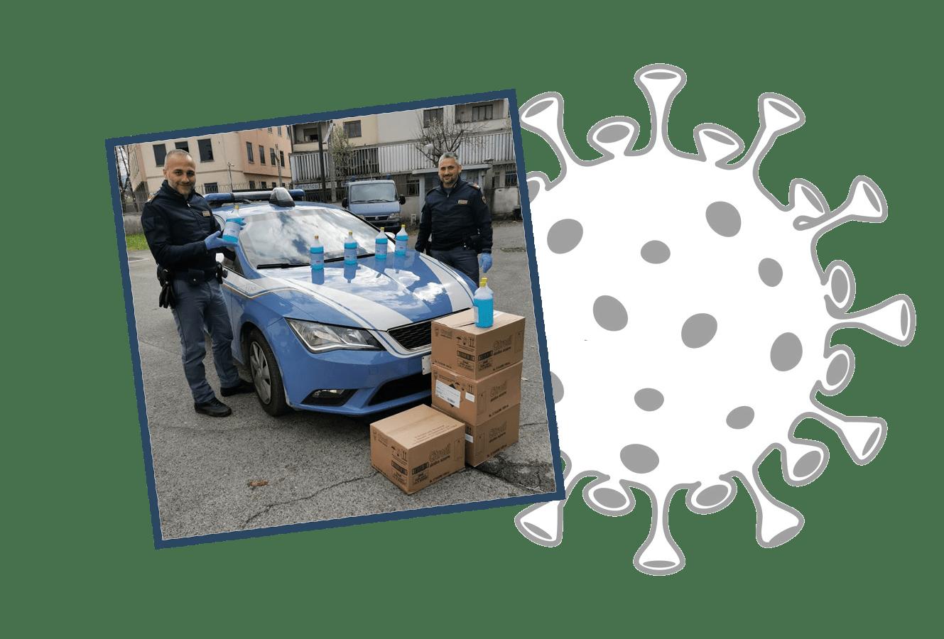 Covid19 Questura Lucca Disinfettante