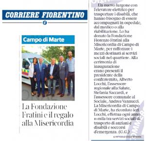 Articolo Corriere Fiorentino Ambulanza Misericordia